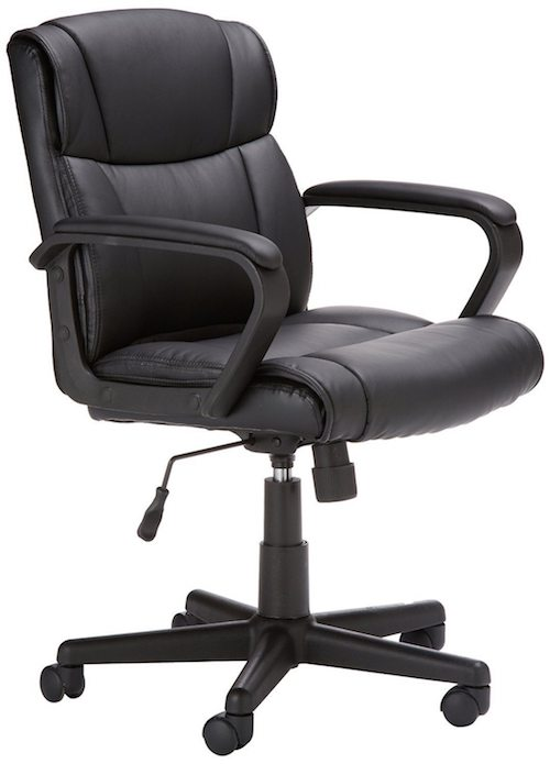 amazonbasics-mid-back-leather-office-chair