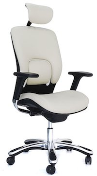 gm seating ergolux executive chair - White Armless Office Chair