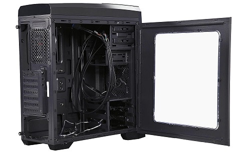 rosewill atx open sideview pc gaming case