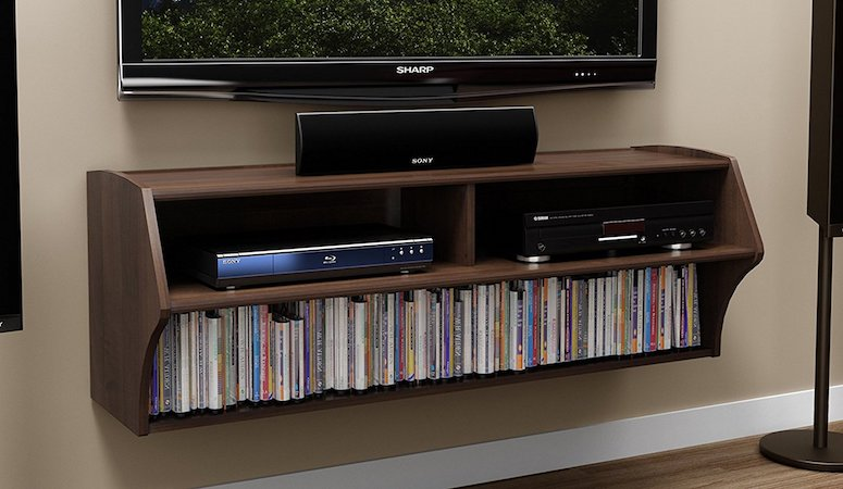 Prepac Espresso Altus Wall Mounted Audio:Video Console