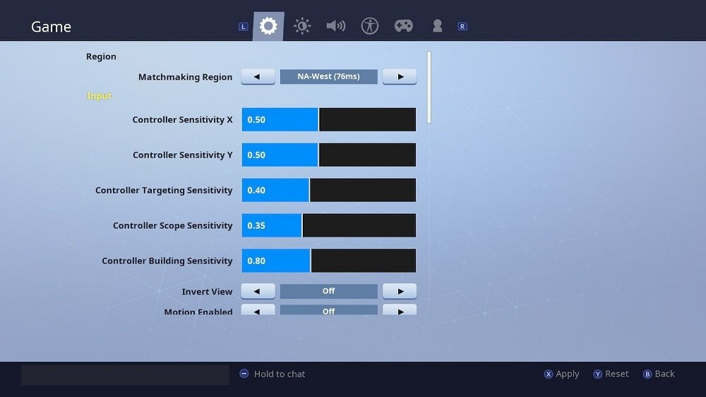 Best Fortnite Controller Settings