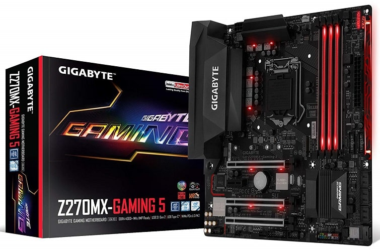 GIGABYTE GA-Z270MX-Gaming 5 LGA1151 Intel Z270 2-Way SLI Micro ATX DDR4 Motherboard-min
