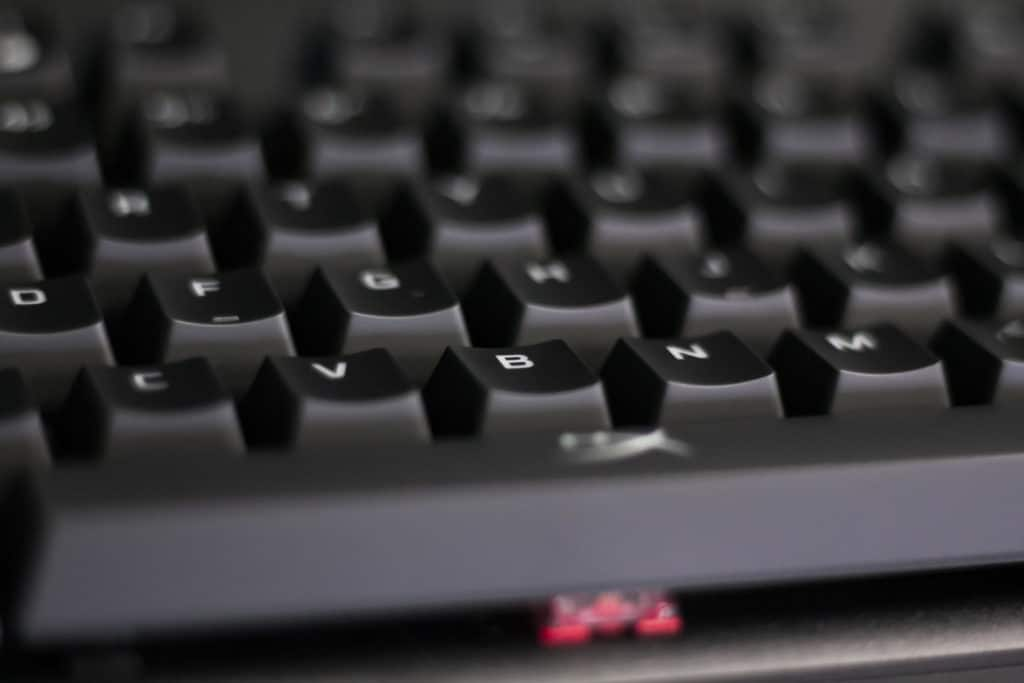 HyperX Alloy Origins Keyboard Closeup